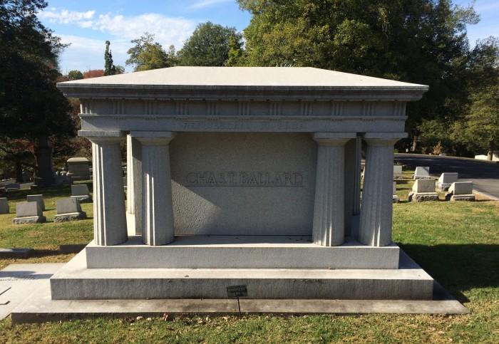 Crypt of Charles T. Ballard, Cave Hill Cemetery, Louisville, Kentucky.